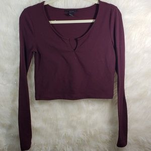 !! SALE 5 FOR $25 !! F21 Long Sleeve Crop Top